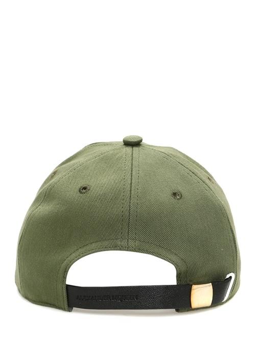 Haki İskelet Nakışlı Erkek Şapka