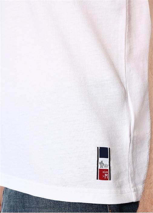 7 Moncler Fragment Hiroshi Fujiwara Beyaz T-shirt