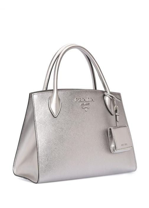 Silver Logolu Kadın Deri Çanta