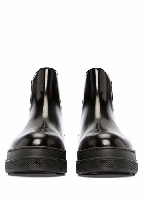 Siyah Kadın Deri Bot