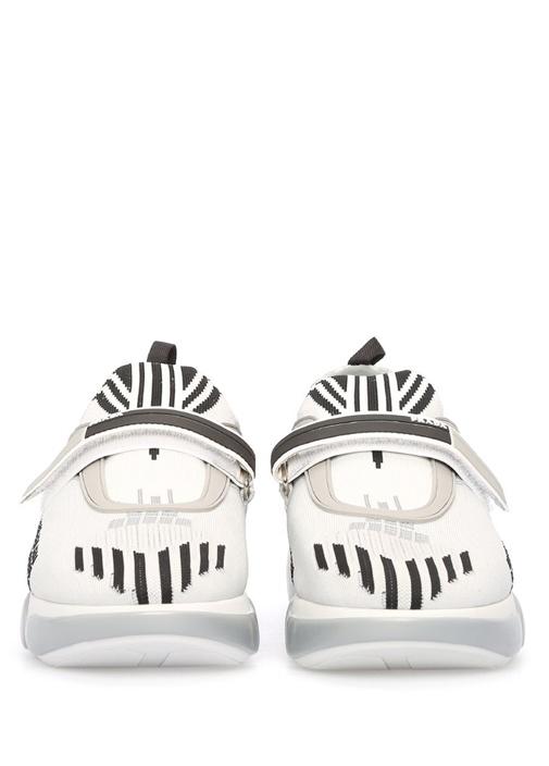 Cloudbust Beyaz Örme Dokulu Kadın Sneaker
