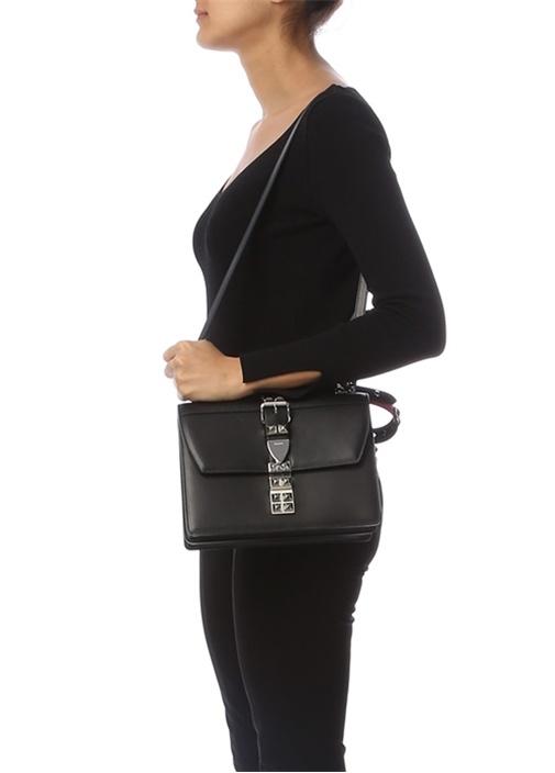 Elektra Siyah Troklu Kadın Deri Çanta
