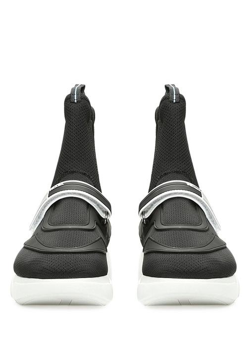 Siyah Logolu File Dokulu Kadın Sneaker