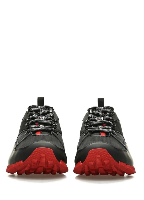 Siyah File Detaylı Erkek Sneaker