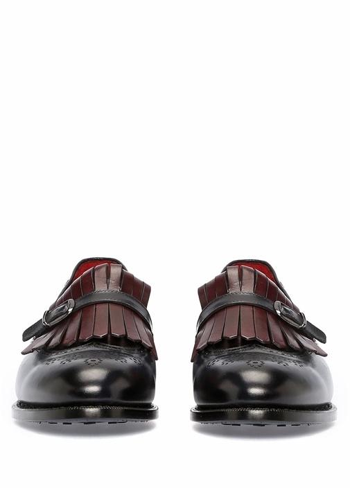 Lacivert Püskül Detaylı Erkek Deri Loafer