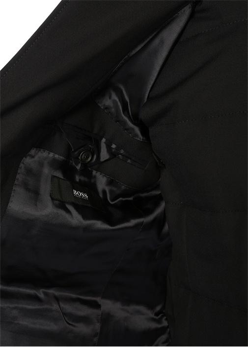 Lacivert Çıkarılabilir İç Yelekli Yün Ceket