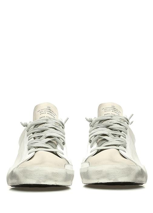 Super Star Beyaz Yıldızlı Erkek Deri Sneaker