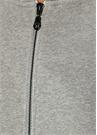 Gri Melanj Kapüşonlu Arkası Nakışlı Sweatshirt