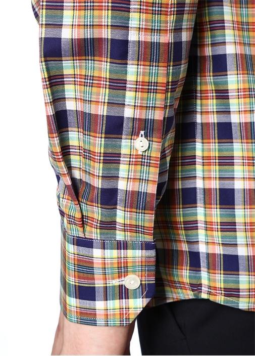 Slim Fit Klasik Yaka Ekose Desenli Gömlek