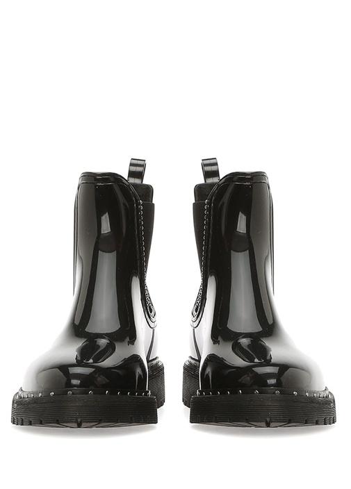 Kara Siyah Silver Troklu Kadın Bot