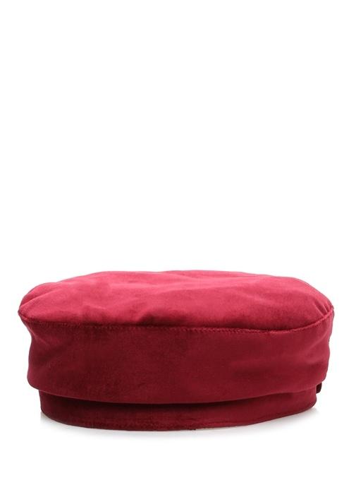 Bordo Kadın Kadife Şapka