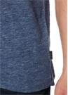 Mavi Melanj Gül Baskılı Keten T-shirt