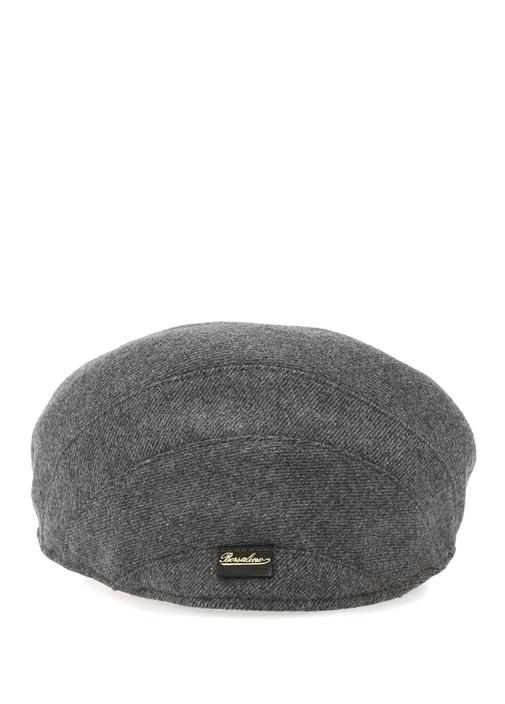 Gri Dokulu Erkek Yün Şapka