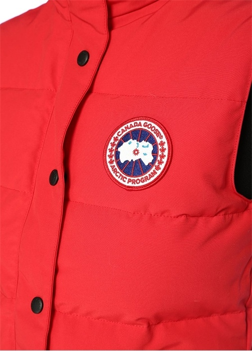 Freestyle Vest Kırmızı Dik Yaka Puff Yelek