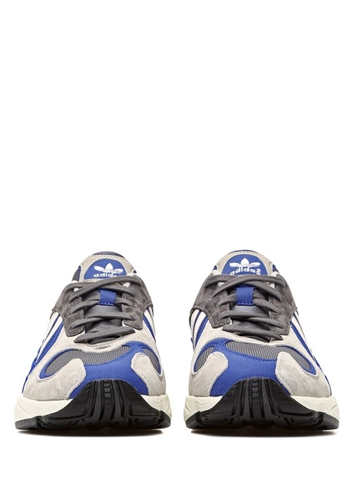 Yung 1 Gri Lacivert File Dokulu Erkek Sneaker