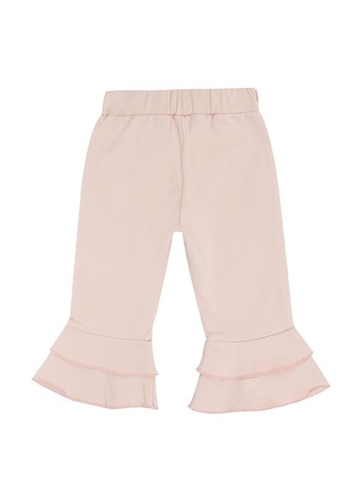 Pembe Fırfır Detaylı Kız Bebek Pantolon