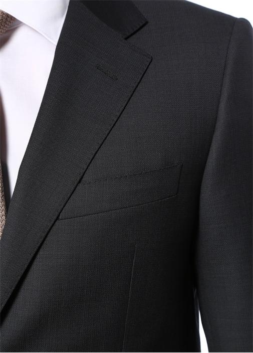Drop 4 Antrasit Kelebek Yaka Yün Takım Elbise