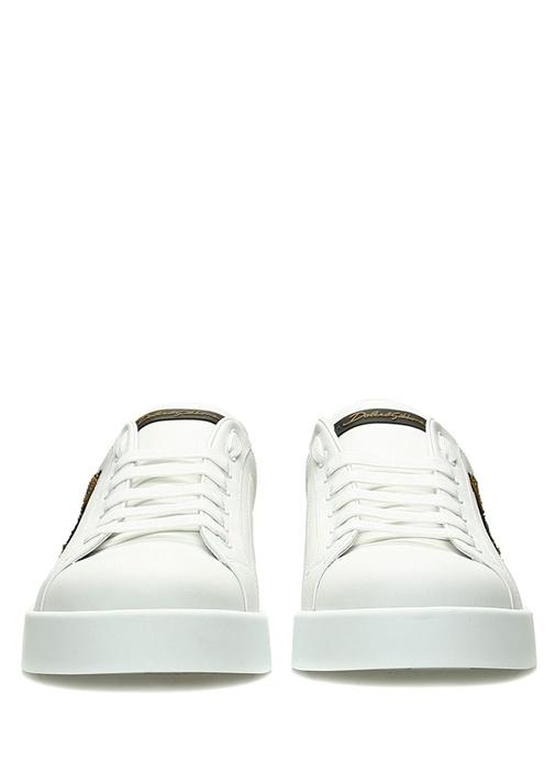 Portofino Beyaz Logo Patchli Erkek DeriSneaker