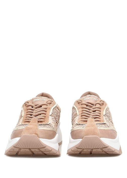 Raine Pembe Çiçek İşlemeli Kadın Sneaker