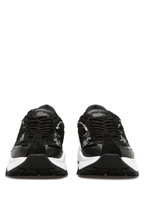 Raine Siyah Çiçek İşlemeli Kadın Sneaker