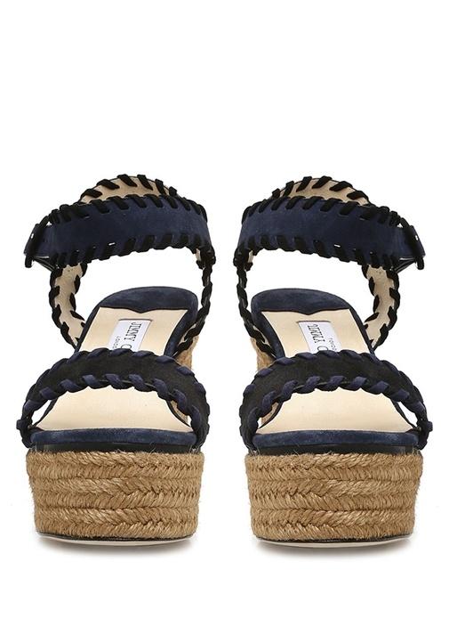 Abigail Lacivert Kadın Süet Sandalet