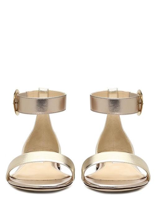 Jaimie Gold Bantlı Kadın Deri Sandalet