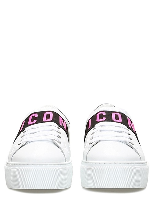 Icon Beyaz Kadın Deri Sneaker
