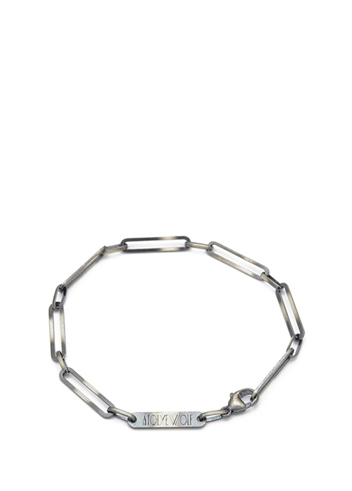 Silver Zincir Formlu Erkek Gümüş Bilezik