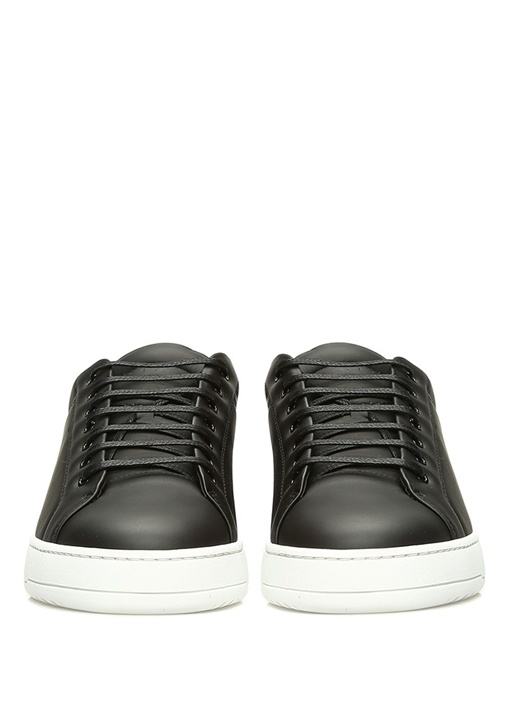 Low 4 Siyah Erkek Deri Sneaker