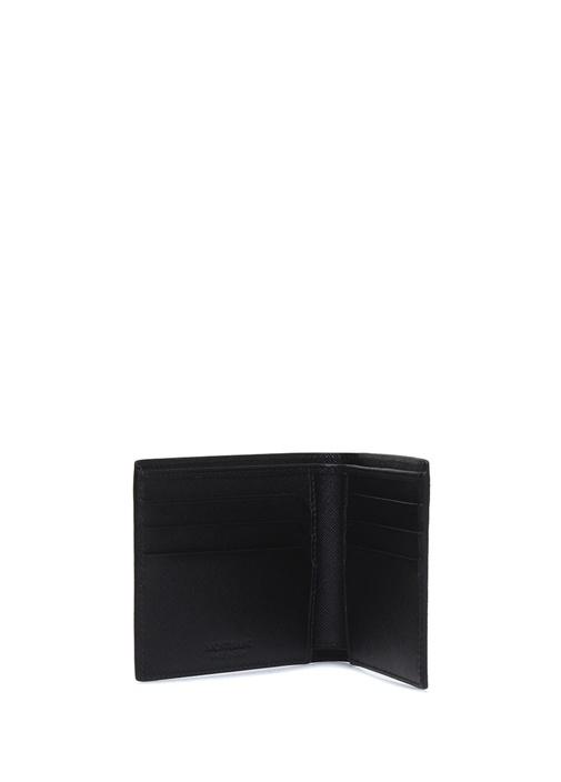 Sartorial Siyah Dokulu Logolu Erkek Deri Cüzdan