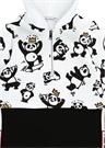 Beyaz Kapüşonlu Panda Formlu Erkek Bebek Tulum