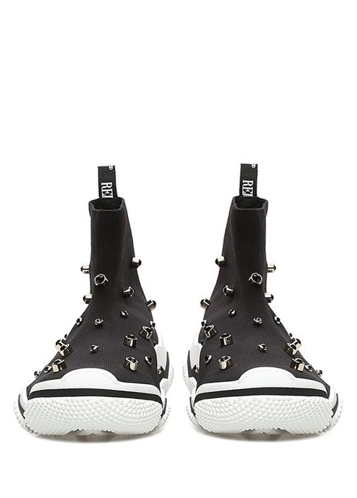 Siyah Boncuk Detaylı Çorap Formlu KadınSneaker