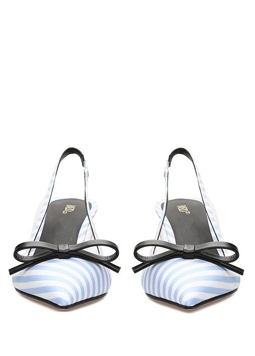 Sandie Mavi Beyaz Çizgili Kadın Sandalet