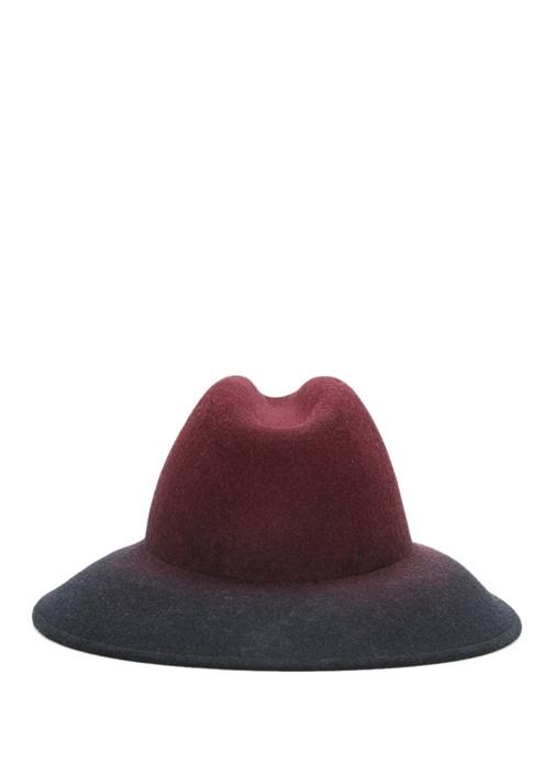 Mor Degrade Kadın Yün Şapka