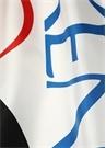 Beyaz Lacivert Logo Baskılı Kadın İpek Şal