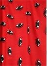 Kırmızı Göz Baskılı Logolu Kadın Şal