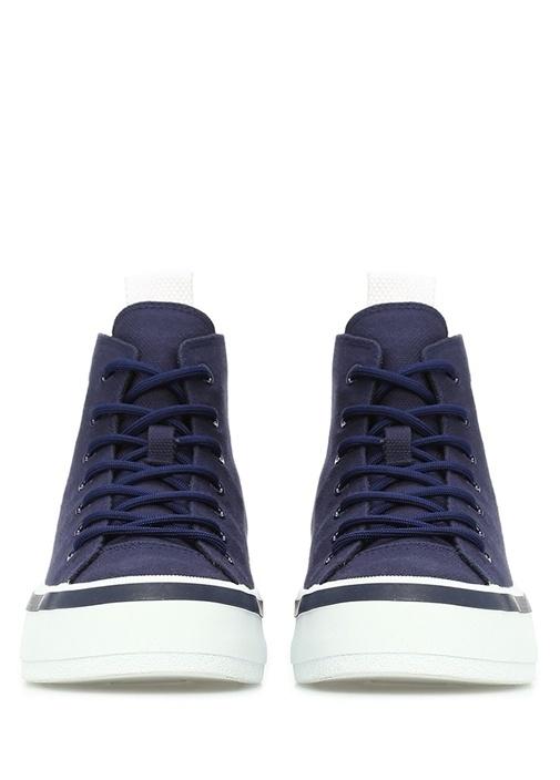 Lacivert Logolu Kadın Kanvas Sneaker