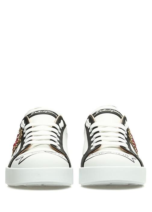 Portofino Beyaz Logo Detaylı Kadın DeriSneaker