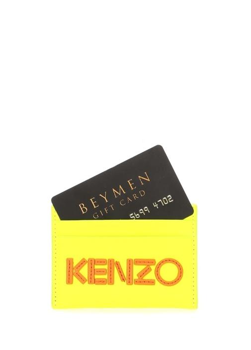 Sarı Turuncu Logolu Erkek Deri Kartlık