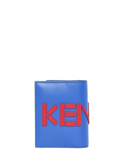 Mavi Kırmızı Logolu Erkek Deri Kartlık