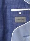 Drop 7 Mavi Kelebek Yaka Desenli Yün Ceket