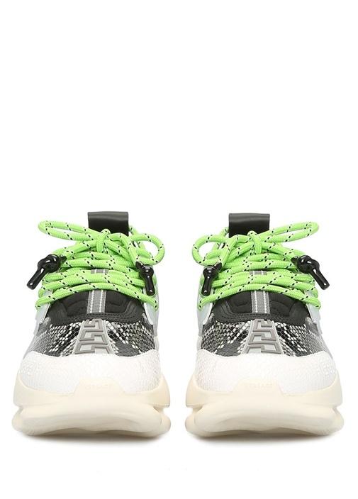 Chain Reaction Siyah Gri Desenli Kadın Sneaker