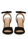 Bibi Siyah Topuk Detaylı Kadın Süet Sandalet