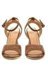 Bilitis Vizon Topuk Detaylı Kadın Süet Sandalet