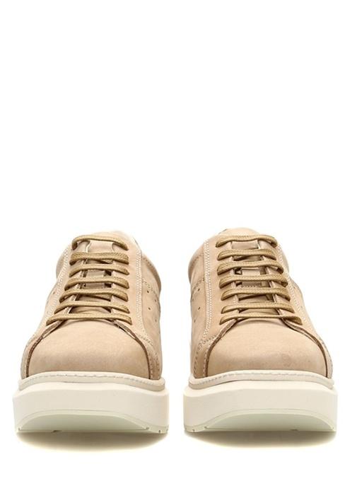 Etnare Bej Platformlu Kadın Süet Sneaker