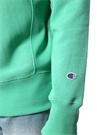Yeşil Bisiklet Yaka Logo Patchli Sweatshirt