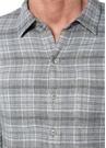 Gri İngiliz Yaka Kareli Cepli Çift Taraflı Gömlek