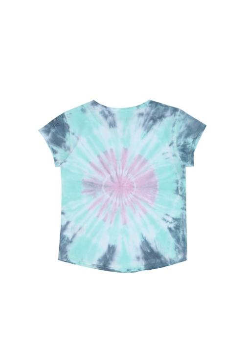 Mavi Pembe Logo Baskılı Kız Çocuk T-shirt