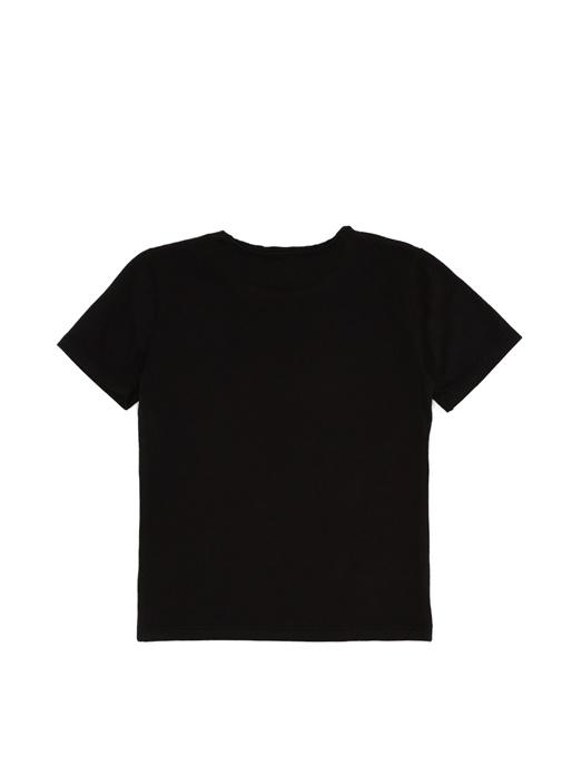 Siyah Logo Baskılı Erkek Çocuk T-shirt