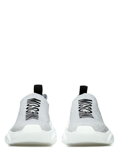 Silver Siyah Logo Jakarlı Sim Dokulu Kadın Sneaker